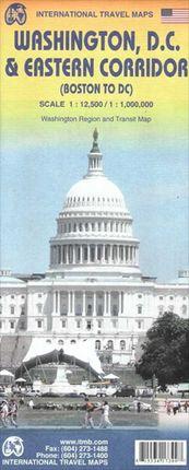 WASHINGTON D.C. 1:12.500 EASTERN CORRIDOR 1:1.000.000 -ITMB