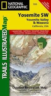 306 YOSEMITE SW 1:40.000- TRAILS ILLUSTRATED -NATIONAL GEOGRAPHIC
