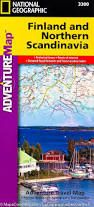 FINLAND AND NORTHERN SCANDINAVIA- ADVENTURE MAP -NATIONAL GEOGRAPHIC