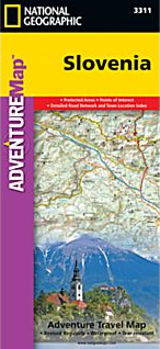 SLOVENIA 1:205.000 .ADVENTURE MAP- NATIONAL GEOGRAPHIC