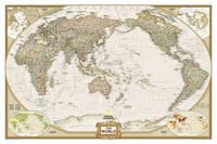 1020329 WORLD EXECUTIVE [PETIT] PACIFIC CENTERED (ENG) [MURAL PLASTIFICADO] 1:36.384.000  -NATIONAL GEOGRAPHIC
