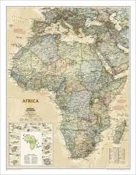 1020430 AFRICA EXECUTIVE [MURAL] 1:14.244.000 -NATIONAL GEOGRAPHIC