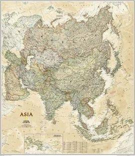 1020435 ASIA EXECUTIVE [MURAL PLASTIFICAT] 1:13.812.000 -NATIONAL GEOGRAPHIC