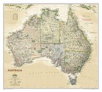 1020439 AUSTRALIA EXECUTIVE [MURAL] 1:6.413.000 -NATIONAL GEOGRAPHIC