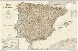 SPAIN AND PORTUGAL EXECUTIVE [ENG][MURAL] 1:1.803.000 -NATIONAL GEOGRAPHIC