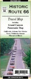 HISTORIC ROUTE 66 & GRAND CANYON PANORAMIC MAP -ITMB