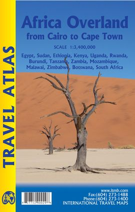 AFRICA OVERLAND 1:3.400.000 CAIRO TO CAPE TOWN ATLAS -ITMB