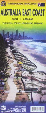AUSTRALIA EAST COAST 1:1.800.000 -ITMB