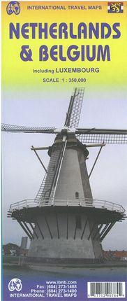 BELGIUM NETHERLANDS & LUXEMBOURG 1:350.000 -ITMB