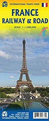 FRANCE RAILWAY & ROAD 1:1.000.000 -ITMB
