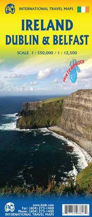 IRELAND, DUBLIN, BELFAST 1:550.000/1:12.500 -ITMB