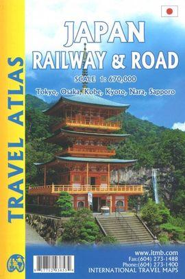 JAPAN RAILWAY & ROAD [1:670.000] -TRAVEL ATLAS -ITMB