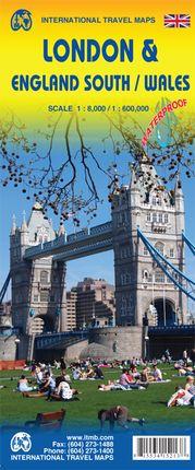 LONDON 1:8.000 & SOUTH ENGLAND 1:400.000 -ITMB