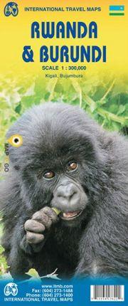 RWANDA & BURUNDI 1:300.000 -ITMB