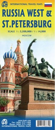 RUSSIA WEST 1:3,200,000 & ST. PETERSBURG 1:14,000 -ITMB