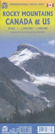 ROCKY MOUNTAINS CANADA 1:1.300.000 & US 1:1.600.000 -ITMB