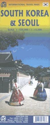 SOUTH KOREA AND SEOUL 1:550.000 / 1:15.000 -ITMB