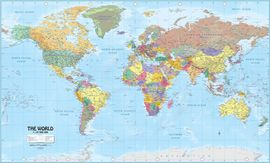 WORLD POLITICAL MAP [MURAL] 1:27.000.000 -ITMB