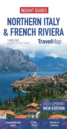 NORTHERN ITALY & FRENCH RIVERA 1:800,000