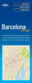 BARCELONA. CITY MAP -LONELY PLANET