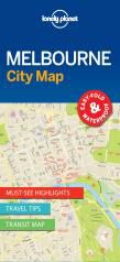 MELBOURNE. CITY MAP -LONELY PLANET