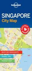 SINGAPORE.  CITY MAP -LONELY PLANET