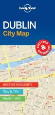 DUBLIN.  CITY MAP -LONELY PLANET