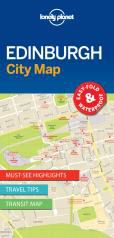 EDINBURGH.  CITY MAP -LONELY PLANET