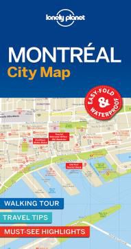 MONTREAL. CITY MAP -LONELY PLANET