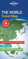 THE WORLD. TRAVEL MAP -LONELY PLANET