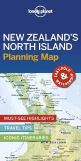 NEW ZEALAND'S NORTH ISLAND. PLANNING MAP -LONELY PLANET