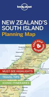NEW ZEALAND'S SOUTH ISLAND. PLANNING MAP -LONELY PLANET