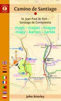MAPA-GUÍA CAMINO DE SANTIAGO (ST JEAN PIED DE PORT-SANTIAGO)