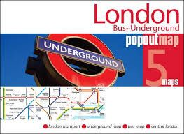 LONDON BUS-UNDERGROUND -POPOUT MAP