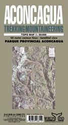 ACONCAGUA 1:50.000 TREKKING-MOUNTAINEERING TOPO MAP -ZAGIER