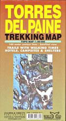 TORRES DEL PAINE TREKKING MAP 1:80.000 -ZAGIER