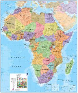 AFRICA 1:8.000.000 [MURAL PLASTIFICADO] LAMINATED -TIMAPS