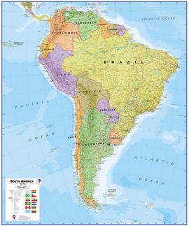 SOUTH AMERICA 1:7.000.000 [MURAL PLASTIFICAT] -TIMAPS