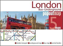 LONDON BUS-UNDERGROUND -POPOUT MAP