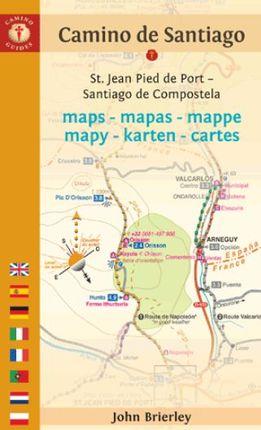 CAMINO DE SANTIAGO. MAPS-MAPAS-MAPPE... [ENG/CAS/DEU/FRA...] -CAMINO GUIDES