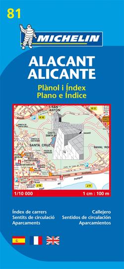 81. ALACANT/ ALICANTE 1:10.000 -MICHELIN