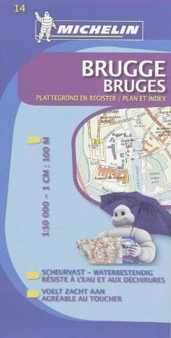 14 BRUGGE / BRUGUES 1:10.000 -MICHELIN