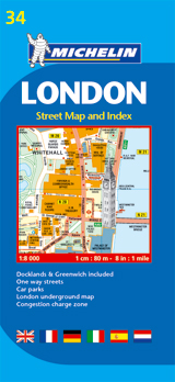34 LONDON 1:8.000 PLAN AND INDEX -MICHELIN