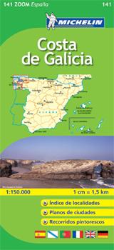 141 COSTA DE GALICIA 1:150.000 -MICHELIN ZOOM