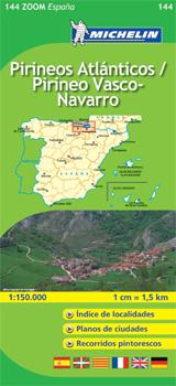 144 PIRINEOS ATLANTICOS / PIRINEOS VASCO-NAVARRO 1:150.000 -MICHELIN ZOOM