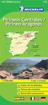 145 PIRINEOS CENTRALES / PIRINEO ARAGONES 1:150.000 -MICHELIN ZOOM