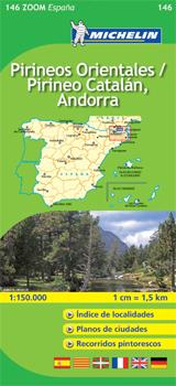 146 PIRINEOS ORIENTALES / PIRINEO CATALAN ANDORRA 1:150.000 -MICHELIN ZOOM