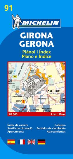 91. GIRONA/GERONA 1:9.000 -MICHELIN