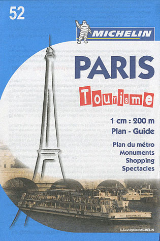52 PARIS TOURISME [FRA] 1:20.000- MICHELIN