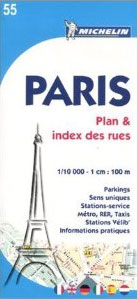 55. PARIS 1:10.000. PLAN & INDEX DES RUES- MICHELIN